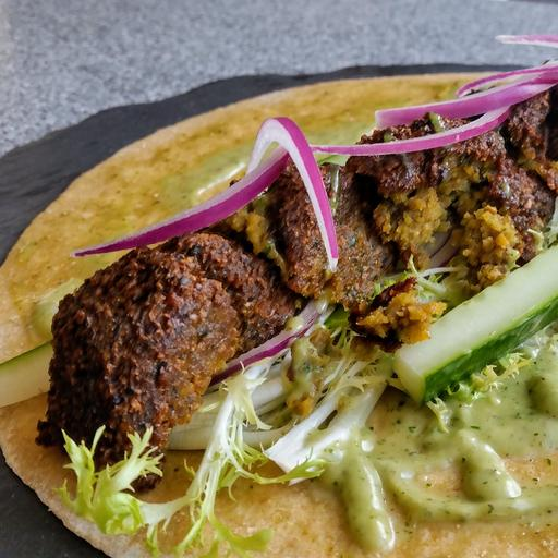 Falafel Wrap with Mint Mayo
