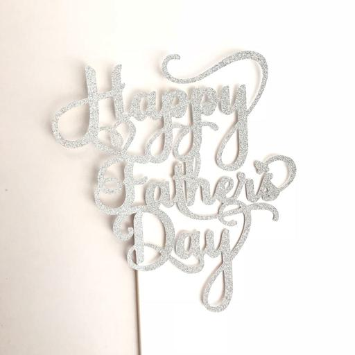 Father's Day Fancy Silver topper