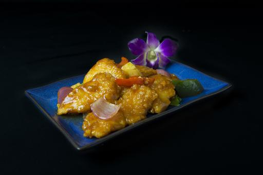 Fish Fillet with Sweet & Sour Sauce 姜葱斑球