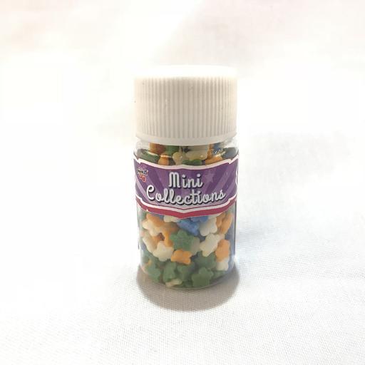 Flower Sprinkles (orange, green, blue & white)
