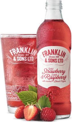 Franklin and Sons Soda- Strawberry and Raspberry