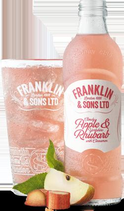 Franklin and Sons Soda- Apple and Rhubard
