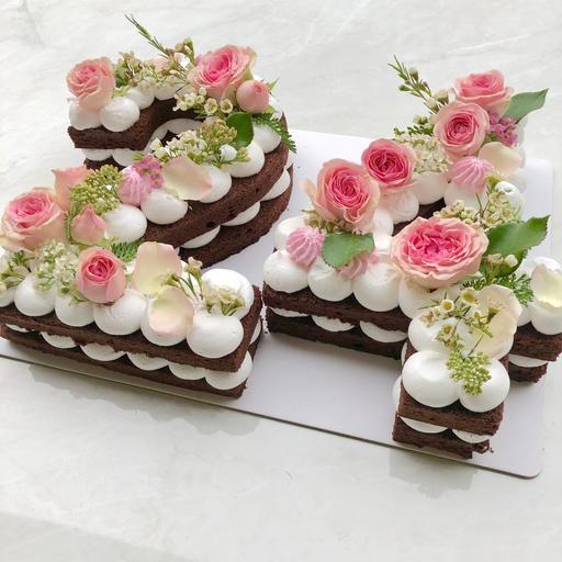 Fresh Flowers [Number Cake]