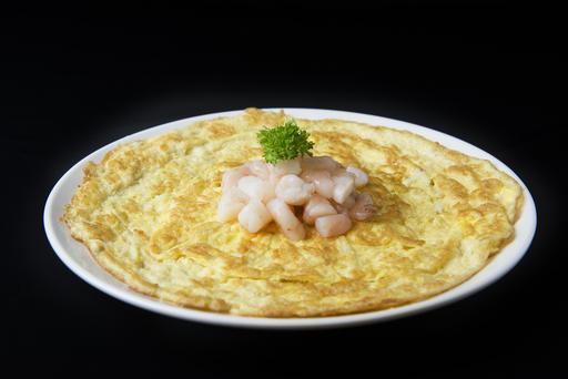 Fresh Prawn Omelette 鲜虾煎蛋