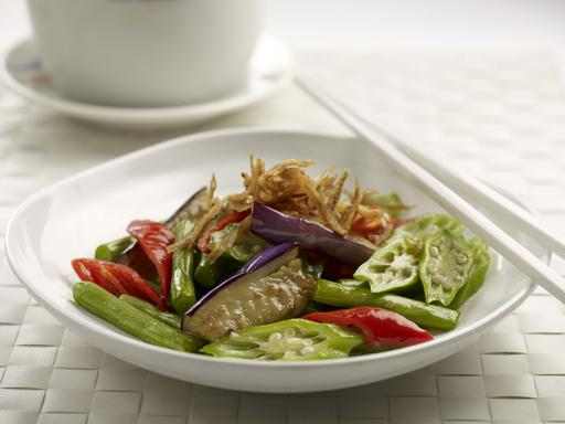 Fried Assorted Vegetable with Oyster Sauce (四季飘香)
