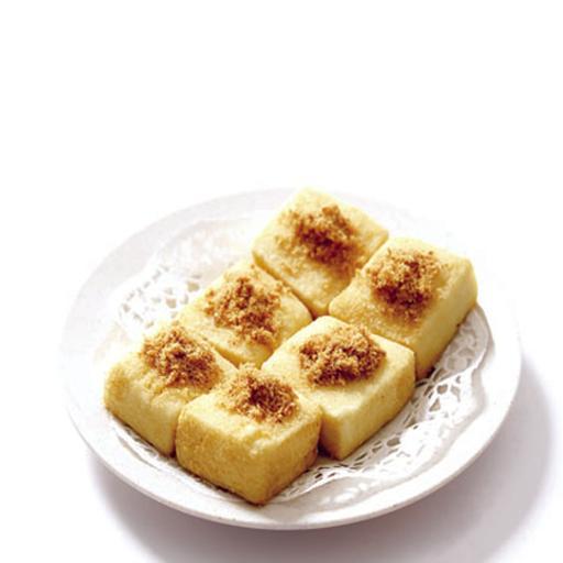 Fried Golden Doufu with Pork Floss 黄金豆腐(猪肉松)