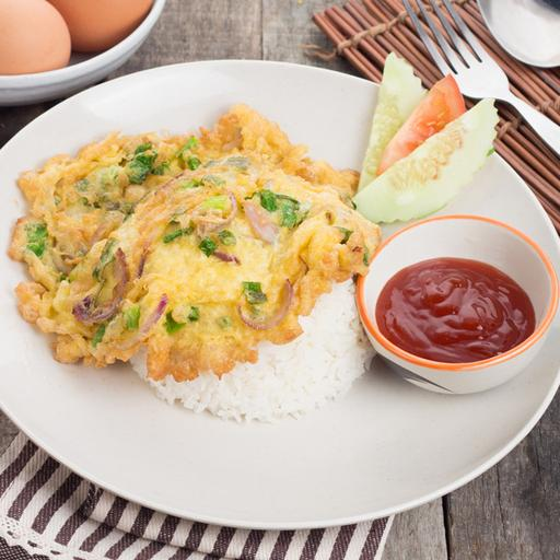 Fried Omelette with Rice