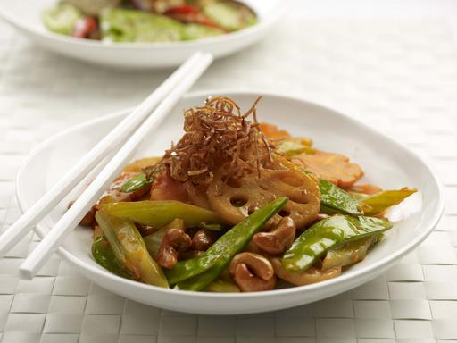 Fried Vegetable with Preserved Beancurd (夏日红莲)