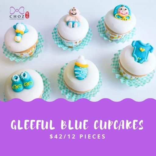 Gleeful Blue Cupcakes (12pcs)