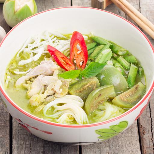 Green Curry Chicken Laksa
