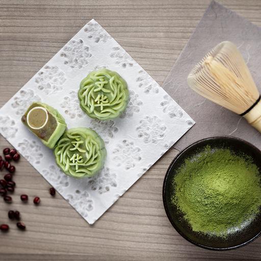 Green Tea Paste with Azuki Red Bean (Mini Snow Skin)