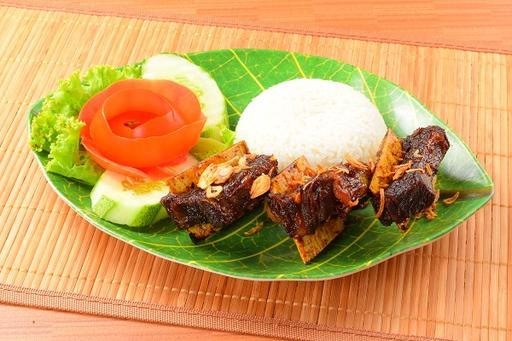 Grilled Beef Ribs (Iga Bakar) + Rice
