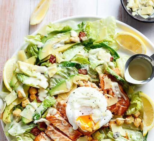 Grilled Chicken Caesar Salad with Poached Egg (20-June)