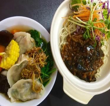 Handmade Dumpling with Dry Ramen 手工水饺干捞面
