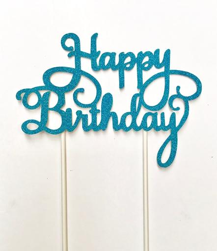 Happy Birthday, Blue Topper