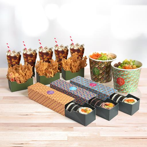 High Five: House Maki & Salad Feast