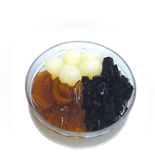 Honey Sea Coconut with Grass Jelly & Longan  海底椰仙草龙眼