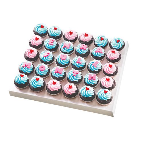 Icing Cupcakes with Alphabets