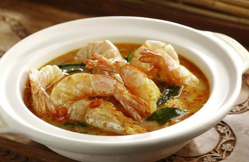 Indonesia Claypot Prawns 辣味煲仔虾