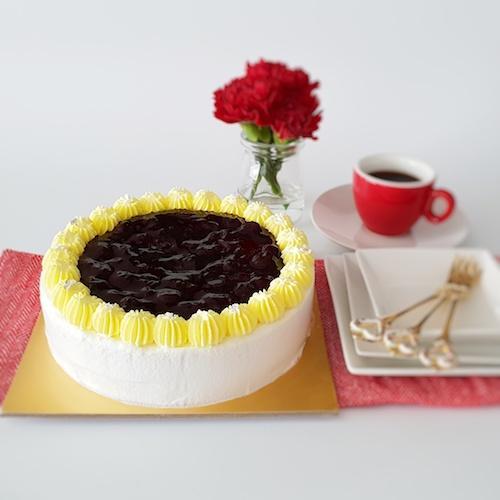 Japanese Blueberry Cheesecake