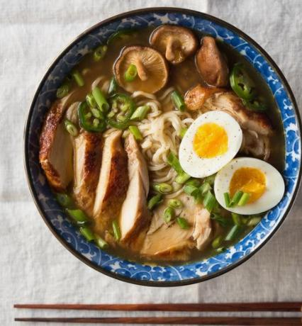 Japanese Buckwheat Soba Noodle with Chicken and Dashi Soup and Medium Boiled Egg (14-Dec)