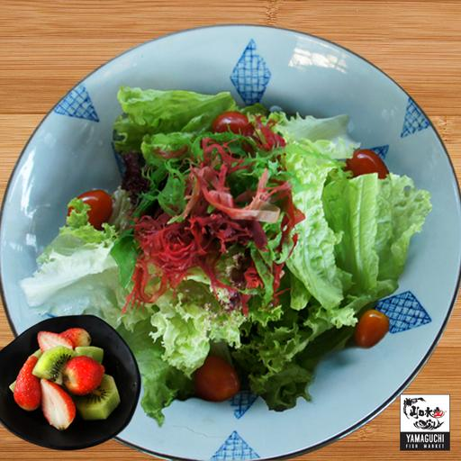 Kaiso Salad with Seasonal Mixed Fruits