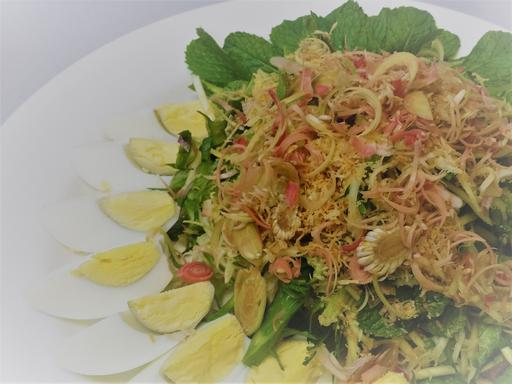 Kerabu Kacang Botol, Four Angled Bean Salad with Hard Boiled Egg (19-June)