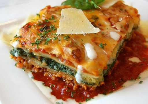 Lasagne with Spinach & Soya Mince