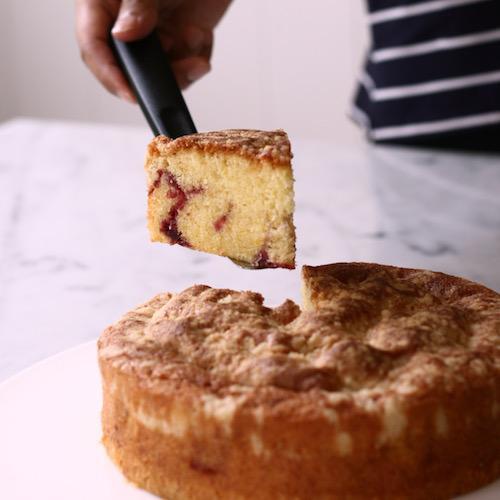Lemon Cherry Crumb Cake