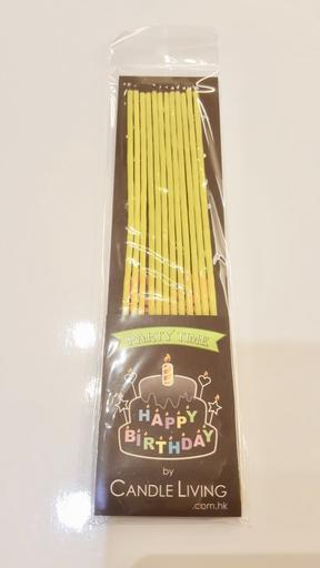 Long thin Candles, yellow