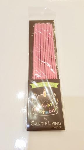 Long thin candles, pink
