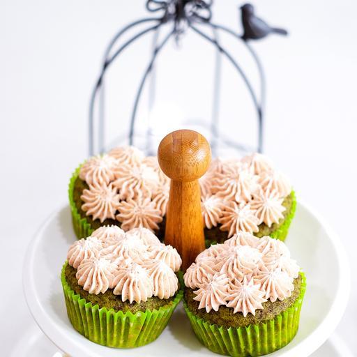 Matcha Red Bean Cupcake (6s)