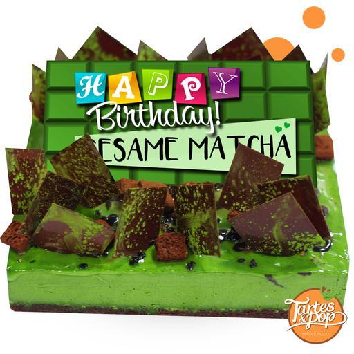 Matcha Sesame cake
