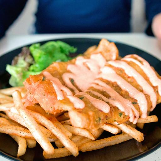 Mentaiko Cod Fish & Chips
