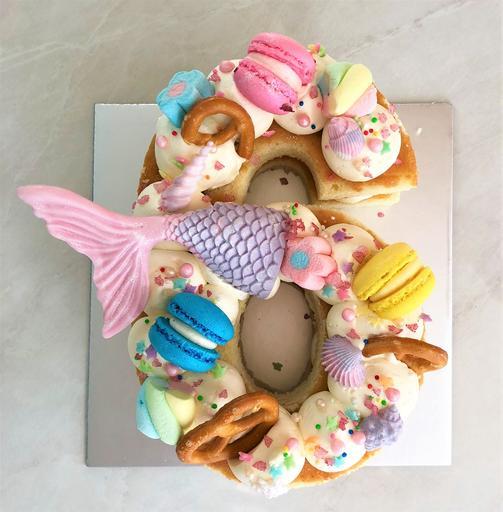 Mermaid Chocolate & Sweets [Number Cake]