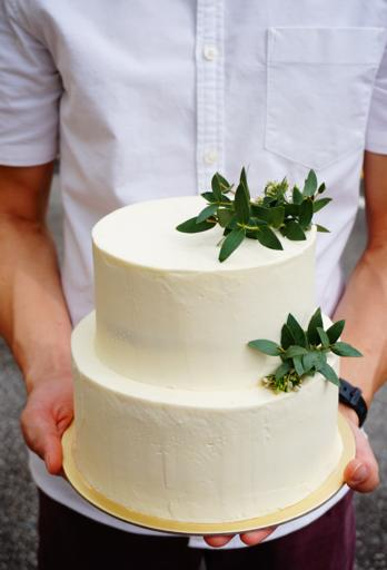 Two Tier Lychee Rosewater Cake