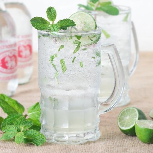Mint & Lime Ice Soda (Cold)