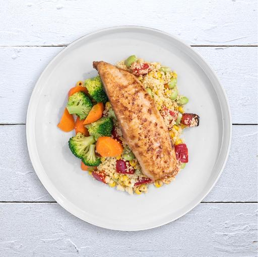 Miso Glazed Fish & Couscous