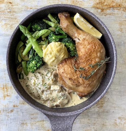 Monday: Keto Roast Chicken with Garlic Aioli