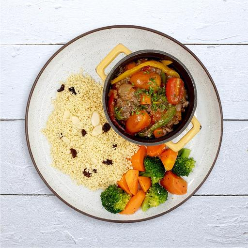 Moroccan Spiced Beef Ragout & Couscous
