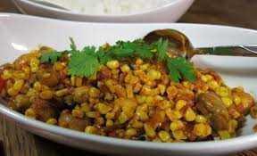 Mushroom Corn Bhaji