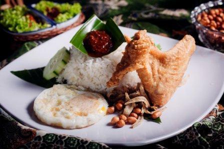 Nasi Lemak Chicken Wing