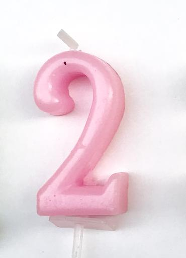 Number 2 candle