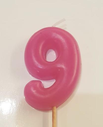 Number 9 candle