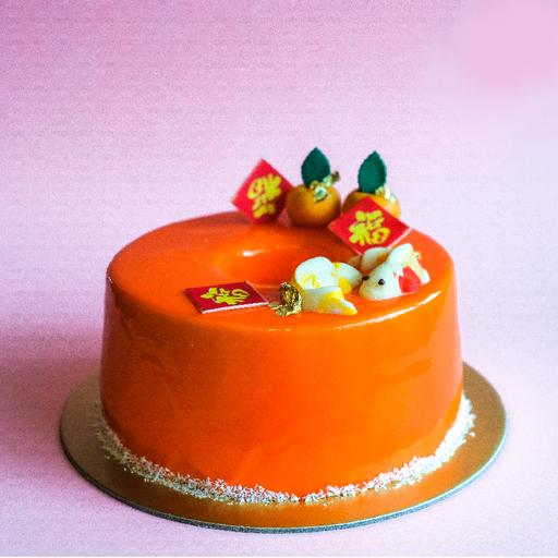Orange Chocolate Chiffon Mousse Cake (1kg)