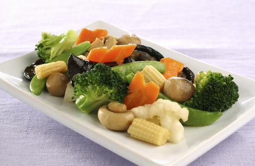 Pan-fried Vegetarian 罗汉上素