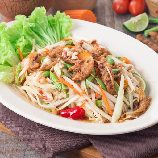 Papaya Salad with Fried Ikan Bilis