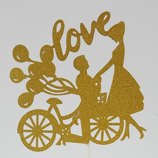 PT16 Gold Balloon Bicycle Couple