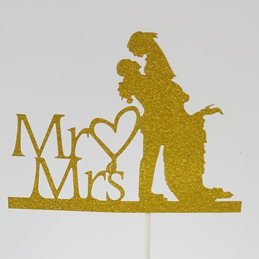 PT17 Gold Mr Heart Mrs Couple