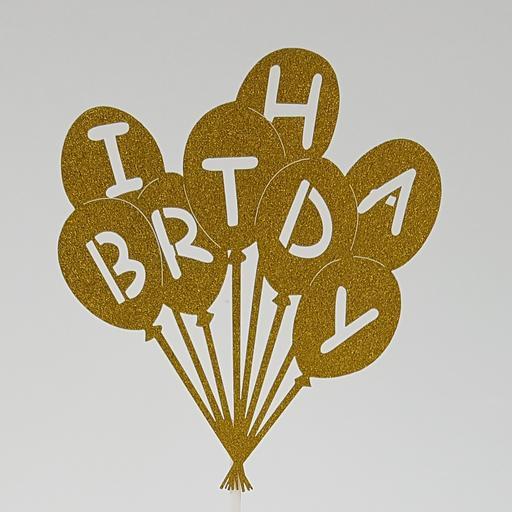 PT8 Gold BD Balloons